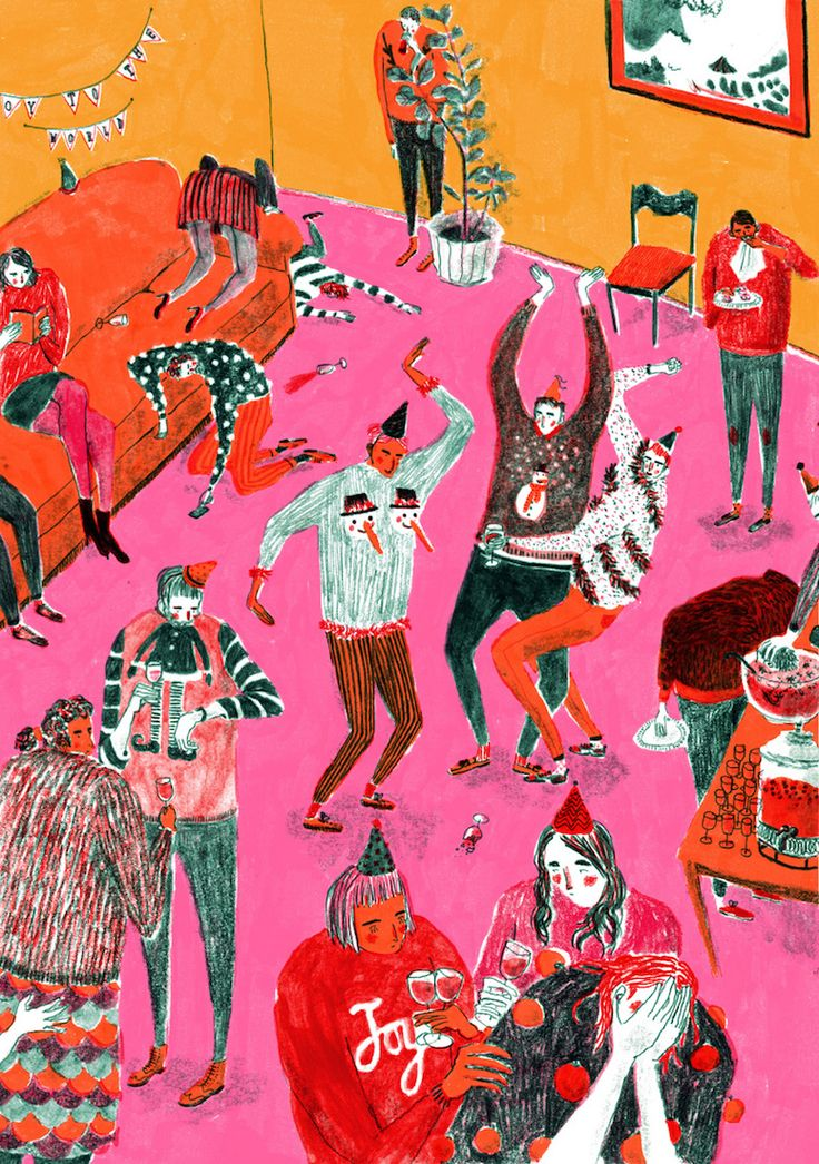 Illustrated a house party perfectly! mouni feddag