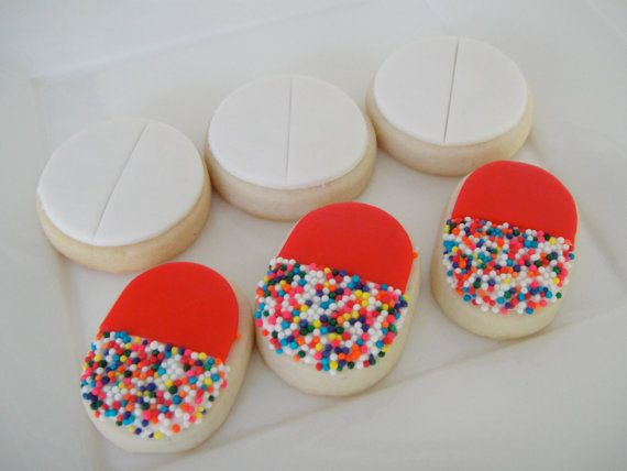 Pill Cookies 24 Two Dozen by OldTimeFavorites on Etsy