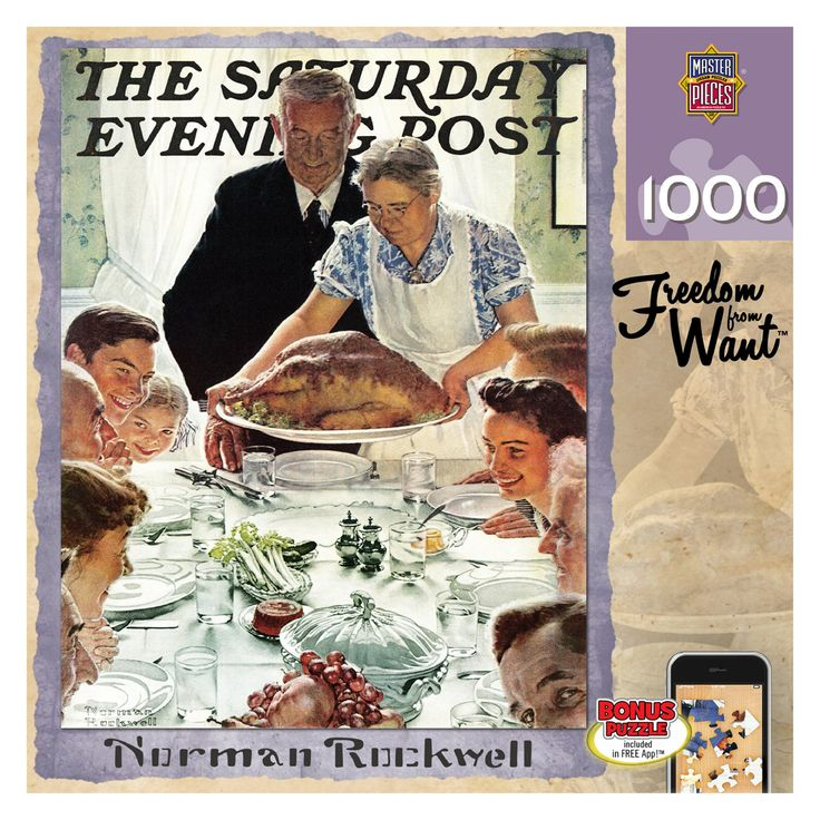 Masterpieces Norman Rockwell Saturday Evening Post Freedom from Want Puzzle - 71368