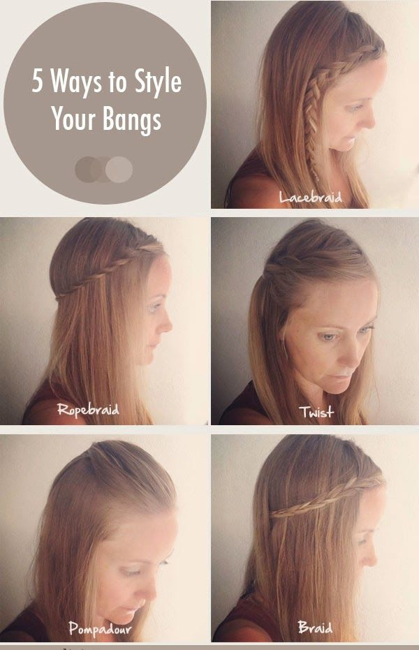 ways to style hair with bangs 17 best images about braided hairstyles on 7622