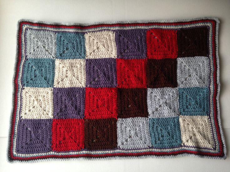 Granny square crochet blanket, multi-coloured, Throw, Afghan, baby or toddler, Patchwork blanket, baby blanket, pram, buggy, cot cover by MummysLittleGemUK on Etsy