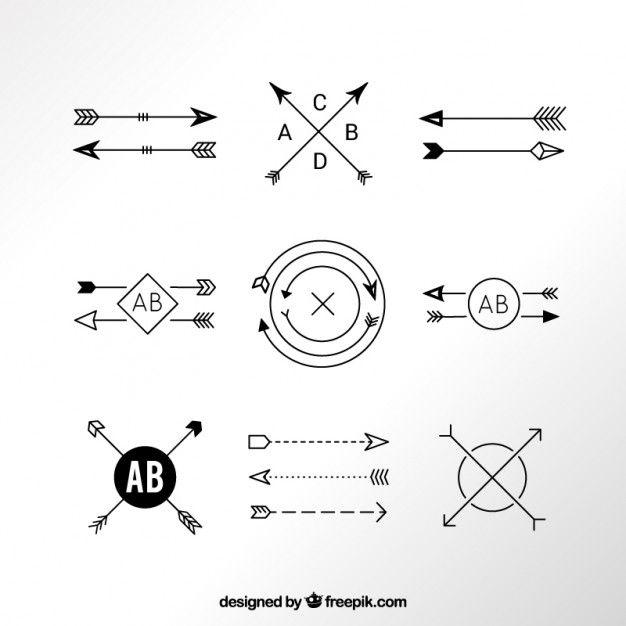 Modern arrow logos Free Vector                                                                                                                                                     More