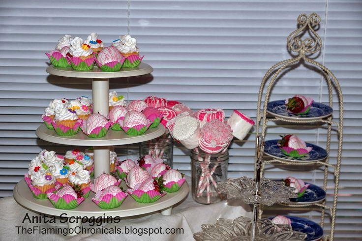 Scrapbook Layout by Anita Scroggins  Baby Shower Pics- so fun!