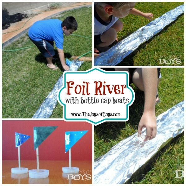 Pin1.5K Share2 +1 Tweet Share Stumble Yum EmailShares 1.5K Need a quick and inexpensive way to entertain your kids this week?  Try making a foil river!  It's so simple and yet your kids will spend hours racing things down the river. It has been a very hot summer here and I'm starting to run out...Read More »