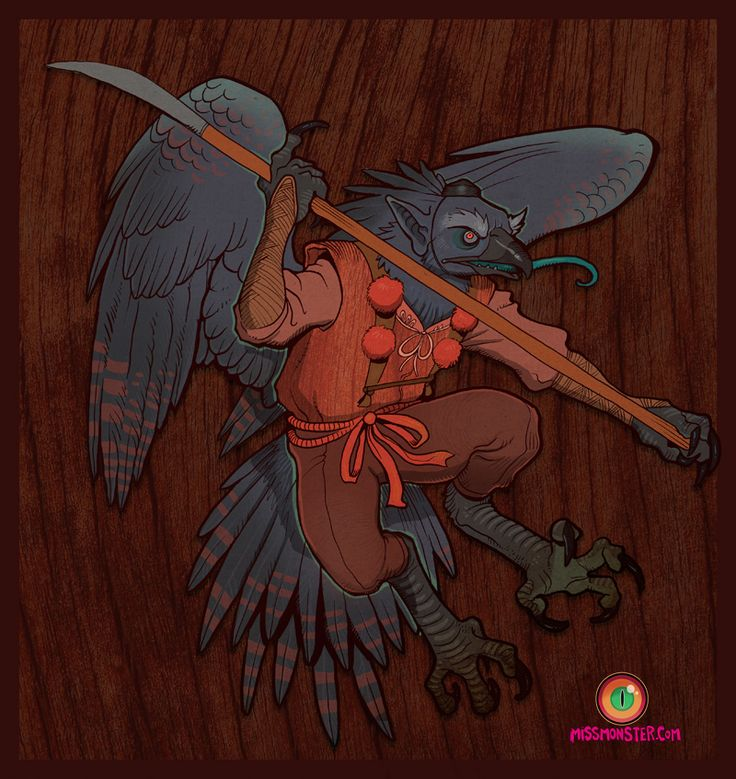 """Karasu tengu.  Karasu is """"Crow"""" and Tengu is """"heavenly phoenix"""") are a class of supernatural creatures found in Japanese folklore, Legends ascribed to them great knowledge in the art of skilled combat. As well as being the instructors of famous warriors in Japans History. Including the Ninja."""
