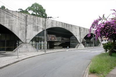 Antigo Centro Cultural do Portão - Álbum - Prefeitura de Curitiba. Hoje Museu Metropolitano de Arte de Curitiba (Muma), ao lado do terminal de ônibus do Portão. Foto: Luiz Costa/SMCS