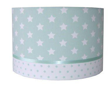 Mintgroene lamp Designed4Kids  Mintgroenelamp van Designed45Kidsvoor in eenmintgroene kinderkamer.De lamp heeft verschillende materialen en prachtige sterretjes....