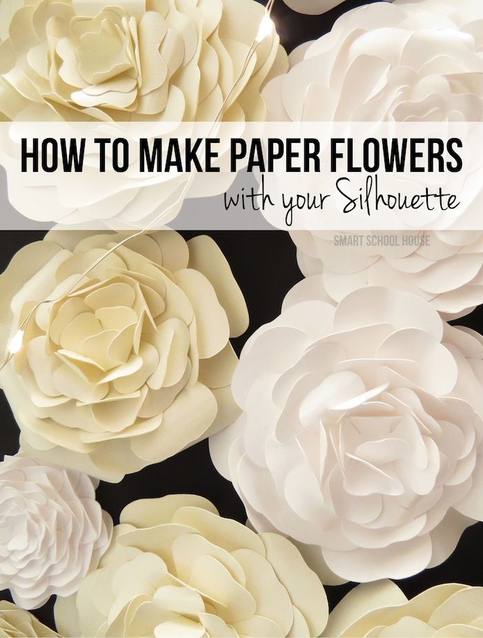 How to Make Paper Flowers with your Silhouette machine!