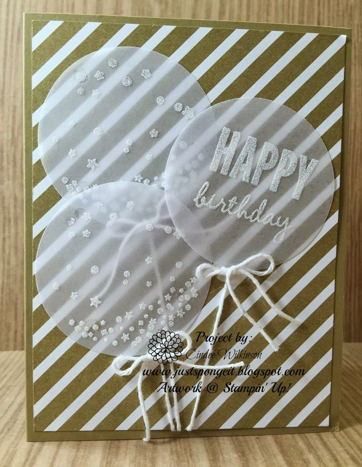 Just Sponge It: Celebrate Today Birthday Card