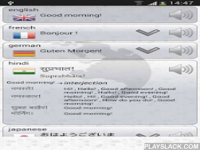 Q Multi Language Translator  Android App - playslack.com ,  Do you need translation? In many languages and simultaneously? Try this translator!- translates words, text, sentences, phrases- choose many languages simultaneously- translates all languages at once- translate voice- hear the translation- 70 languages- Copy the translation (clipboard)- Very easy and intuitive- Voice input & output- Speech Recognition- Text to speech- Nice graphics- Color themes*** it needs an internet…