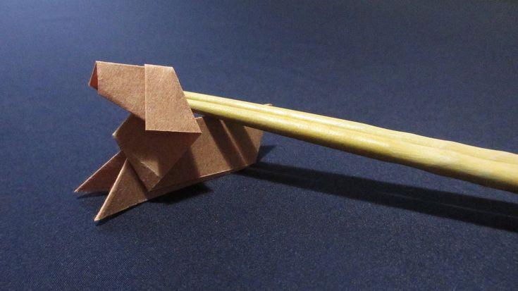 [How to ORIGAMI] Dog / 折り紙で作る箸置き~犬~