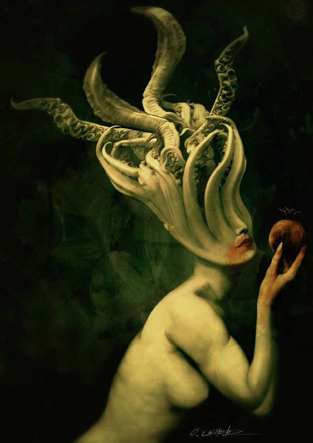 The lady if you could call her that, moved out of the shadows, an apple in her hand...