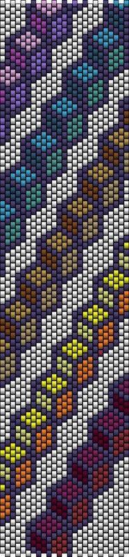Cube peyote pattern