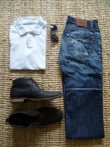 Hugo-Boss-Jeans-Herren-Regular-Fit-Size-W32-L34