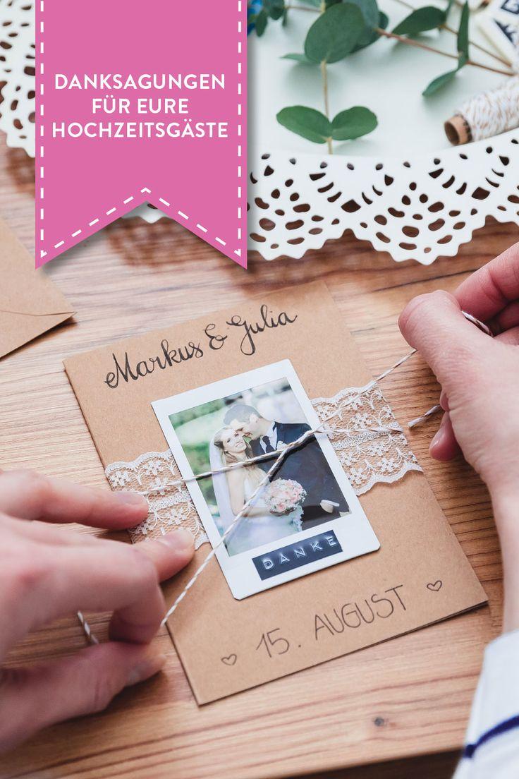 """Thank you"" Cards – charmante Danksagungen an eure Hochzeitsgäste"