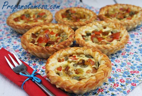 Tartaleta de verduras,receta paso a paso de cómo preparar la masa quebrada.