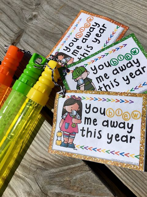 FREEBIE End of the year student gift tags. You blew me away this year! Perfect for bubbles!