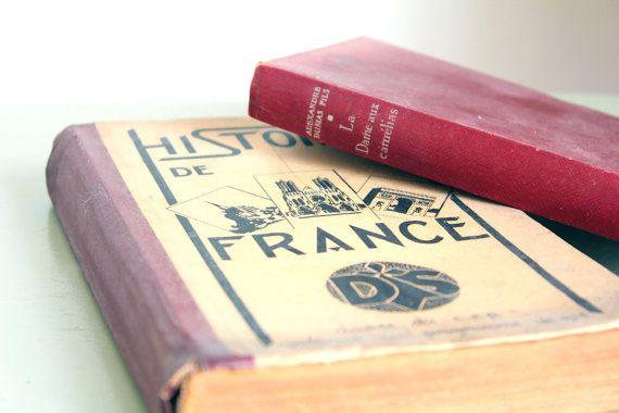 a vintage french book : La Dame aux Camélias of Alexandre Dumas Fils. Paris : Calmann-Lévy, 1949, 252 p.