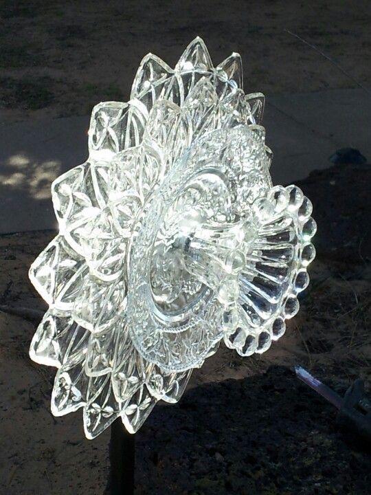 Glass Flower Yard Art by cristina