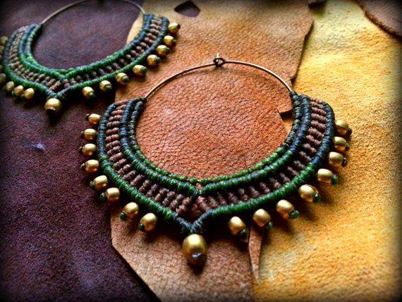 Macrame tribali gioielli / orecchini / orecchini di Kalajadoo