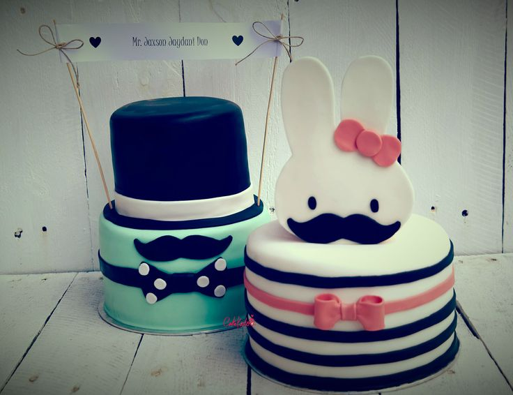 Mustache and miffy cake. Gotta love Nijntje!