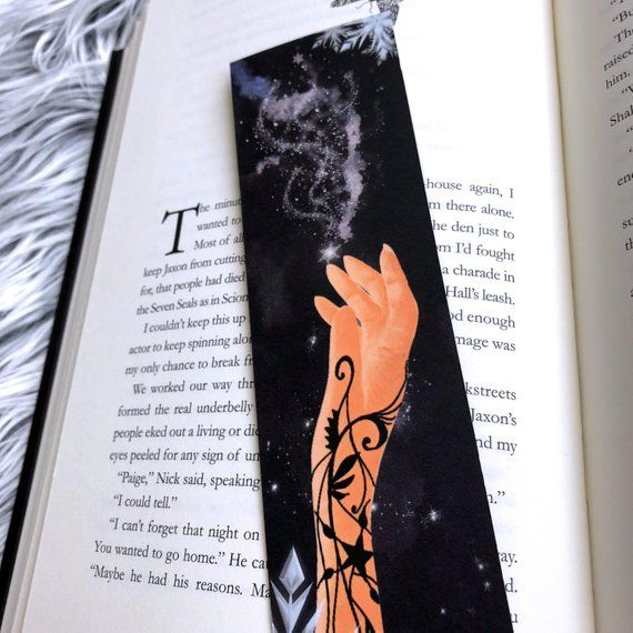 A Court Of Frost And Starlight Inspired Watercolor Art Bookmark