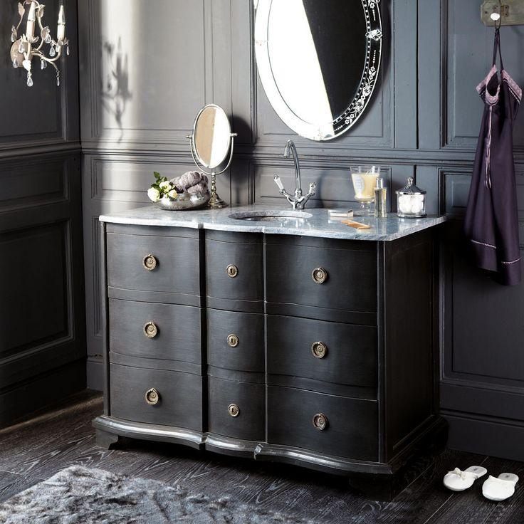 Miroir coiffeuse manoir id e d co et relooking pinterest - Coiffeuse meuble noir ...