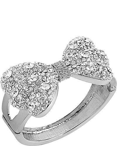 CRYSTAL BIG BOW BRACELET CRYSTAL accessories jewelry bracelets fashion