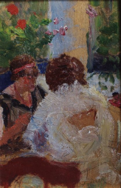 Two women at a table   Kunffy Lajos   1920   Rippl - Rónai Megyei Hatókörű Városi Múzeum - Kaposvár   CC BY