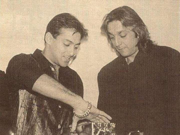Salman Khan With His Best Friend Sanjay Dutt