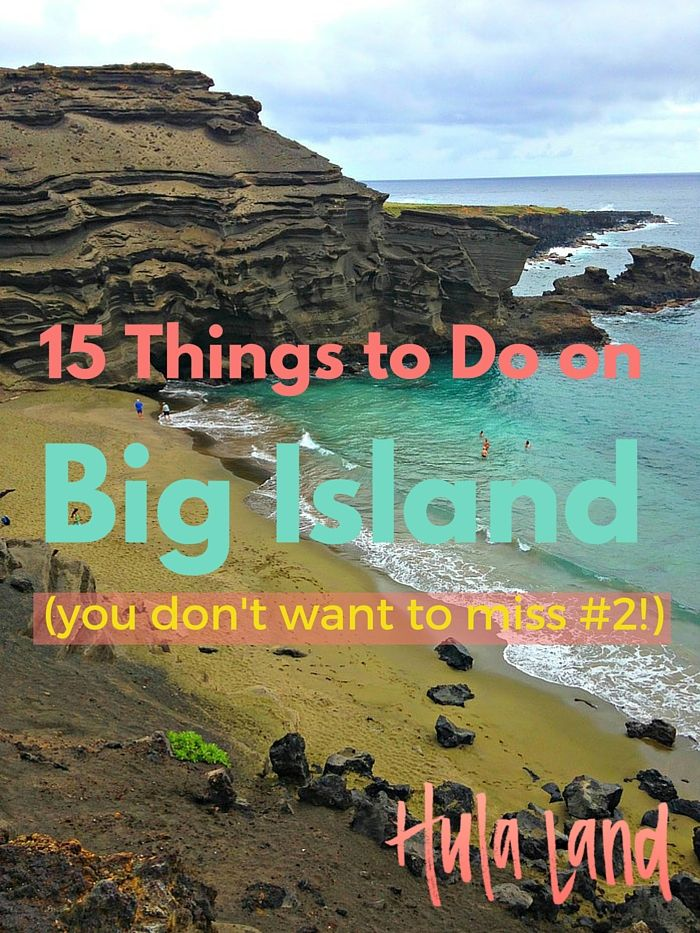 The very best things to do the Big Island of Hawaii including Volcano National Park, the green sand beach, and touring a coffee plantation