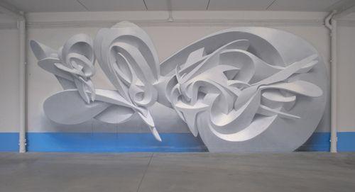 PeetaSculpture, Artists, 3D Street Art, Peeta, Milan Italy, Artists Color Pink, Painting, 3D Graffiti, Streetart