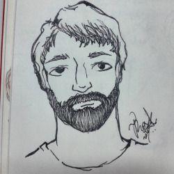 #desenho #sketch #arte #art #homem #man #barba #beard #unipin #copic #sketchbook #sakura #micron (em Cidade Universitária - Barão Geraldo.)