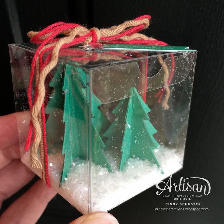 A mini snow globe box! ~ Cindy Schuster