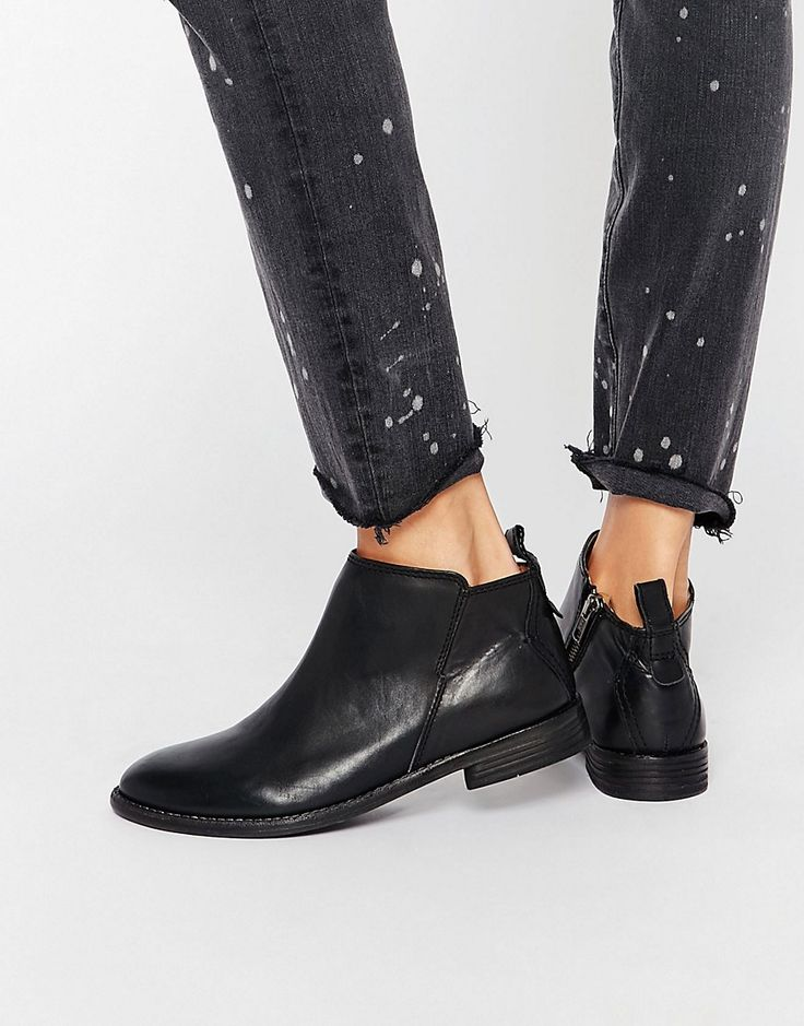 Image 1 of Hudson London Black Leather Revelin Ankle Boot