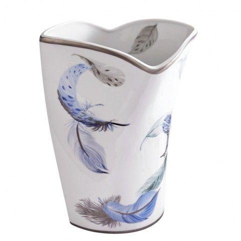 (25cm) Création unique Laure Sélignac, le vase en porcelaine de Limoges Vivaldi Hiver. Un décor décliné autour des 4 saisons.