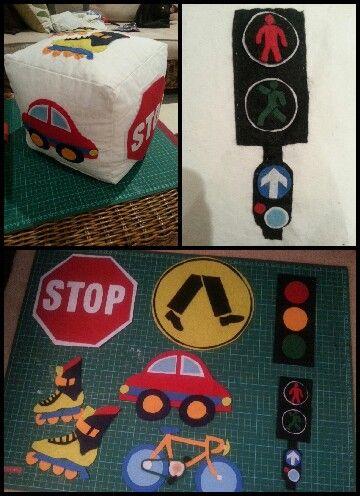 Kids road safety felt dice - Australian road signs/awareness