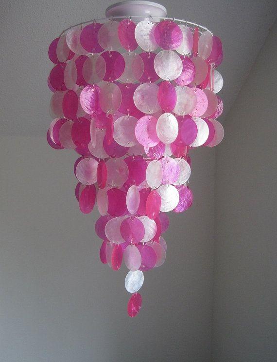 Seaside Dreams 3 Tier Flush Mount Hot Pink by ShabulousChandeliers
