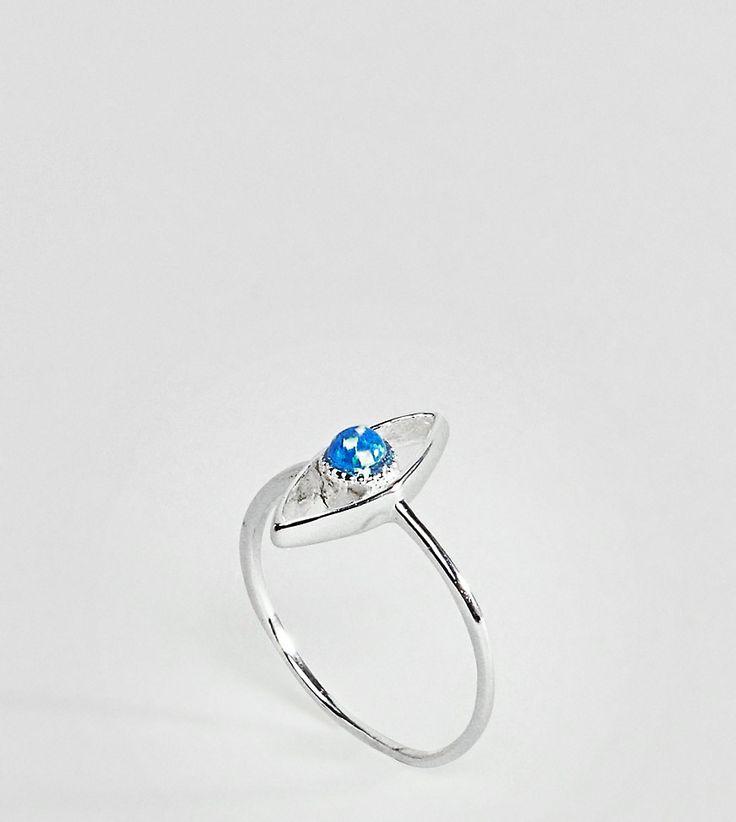 ASOS - Ring aus Sterlingsilber mit Opalimitat in Augenform - Silber Jetzt bestellen unter: https://mode.ladendirekt.de/damen/schmuck/ringe/silberringe/?uid=7de55b06-168a-51d8-a394-378eaf013619&utm_source=pinterest&utm_medium=pin&utm_campaign=boards #schmuck #ringe #sale #uhren #female #silberringe