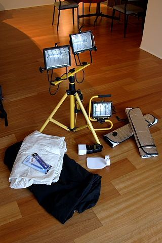 A cheap DIY home studio lighting solution for your digital photography.