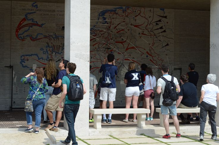 Xavier and LVC students at the Netherlands American Cemetery Maastricht.  #Maastricht #CES #studyabroad #travel #europe #netherlands