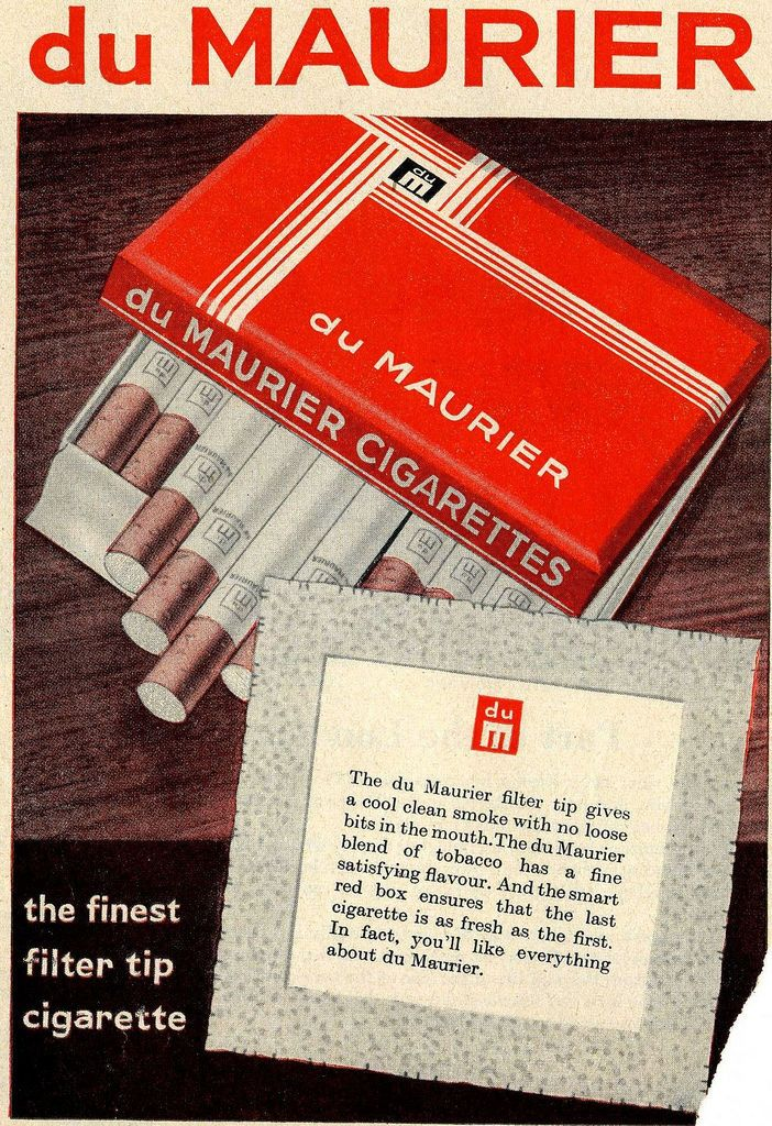 du maurier, imperial tobacco, Cigarettes