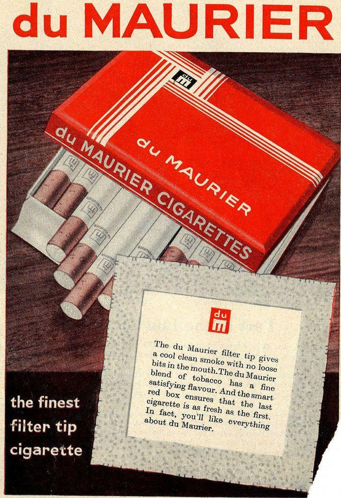 du maurier, imperial tobacco, Cigarettes
