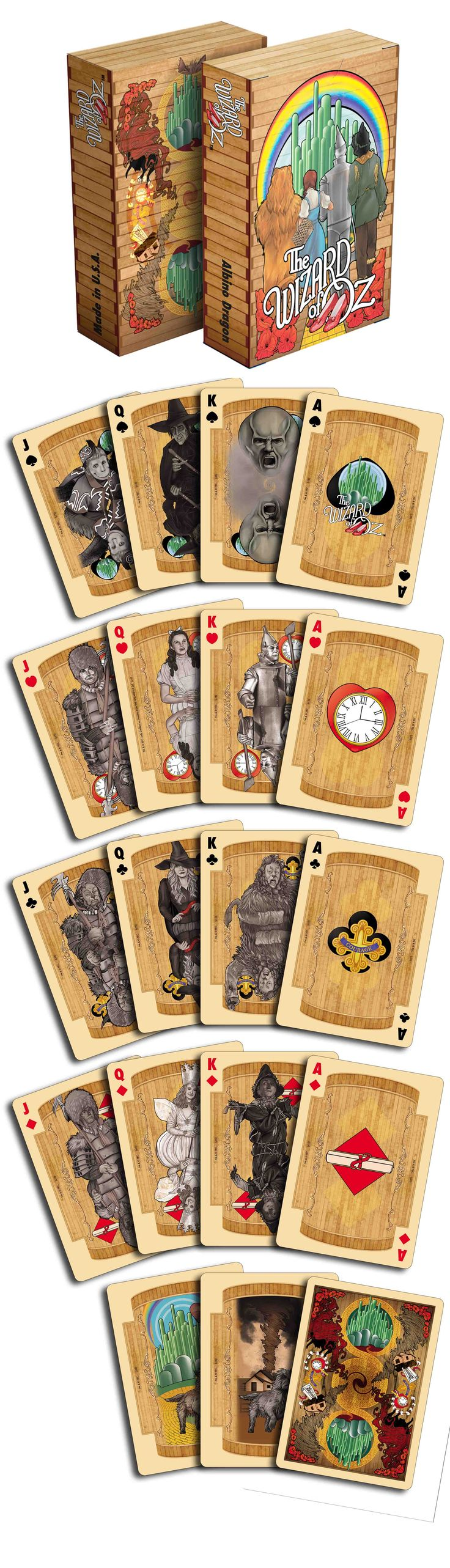 The Wizard of Oz Kansas deck by Albino Dragon. These are amazing! The black and white images in contrast to the 75th version is so clever. Now available on www.albinodragon.com.