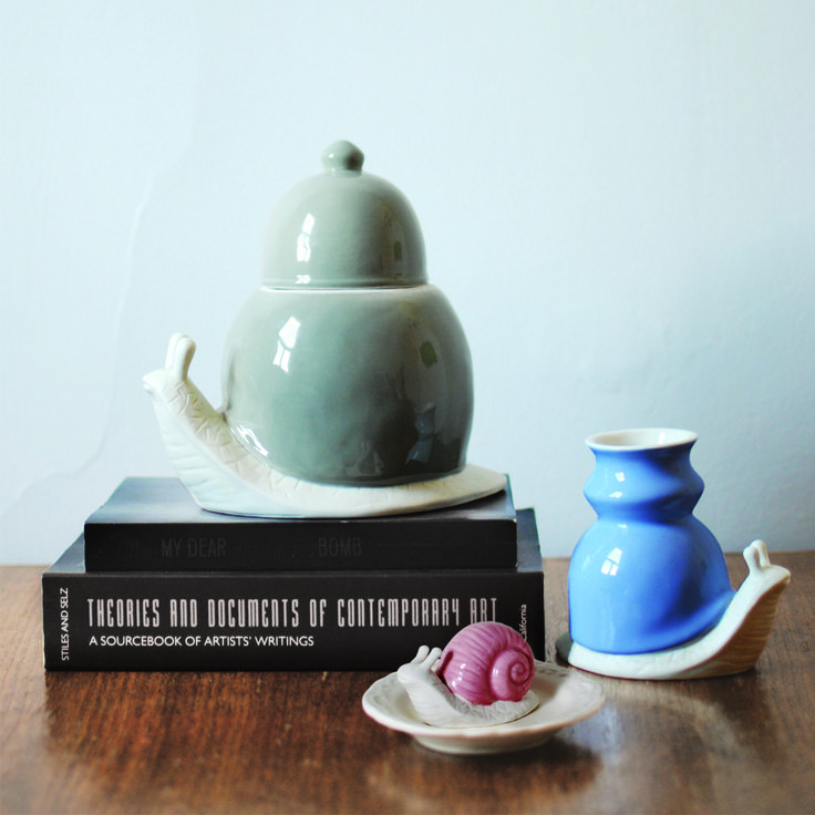 imm Living | Table Top | Tabletop Accessories | Ceramic Canister | The Dwellers Snail Ceramic Canister