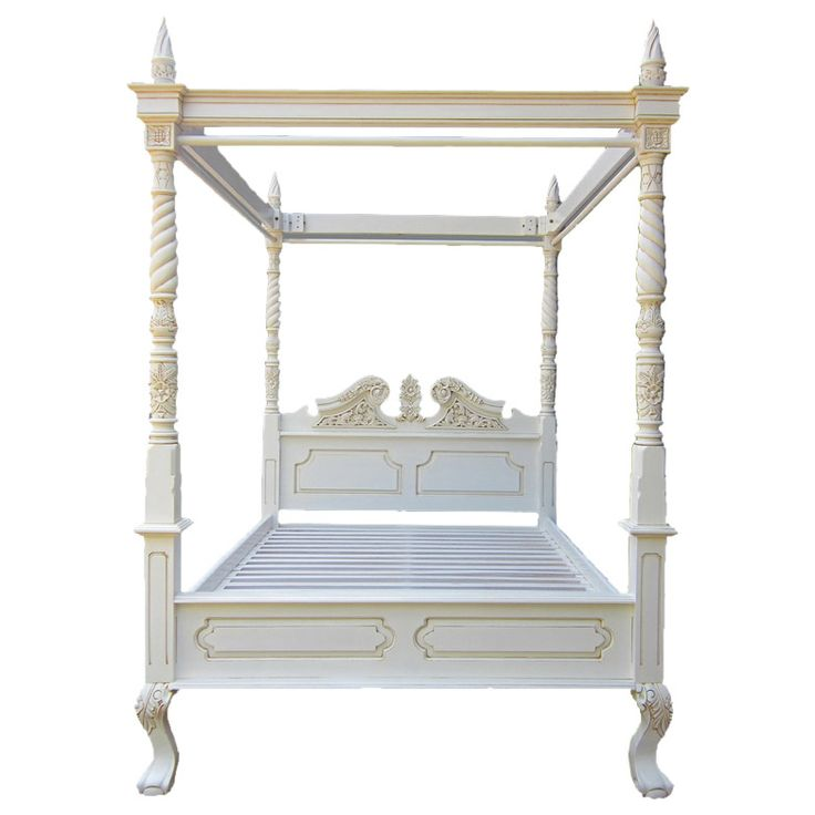 FRENCH RENAISSANCE BONNET TOP SOLID MAHOGANY FOUR POSTER KING SIZE CANOPY BED - JUF-BED10K Cost pound 795 00 Spectacular in size and detail with
