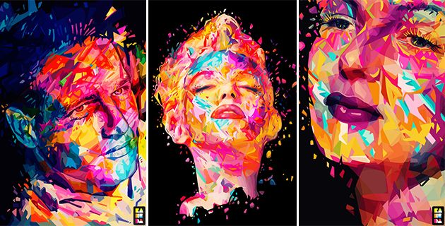 Colorful portraits by Alessandro Pautasso
