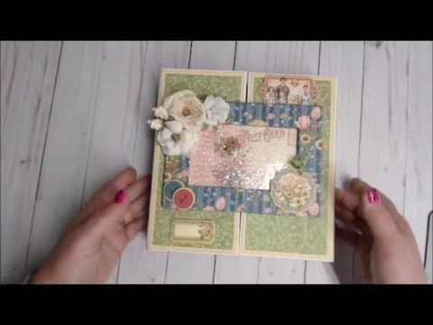 Penny's Paper Doll Pop up album pages walkthru