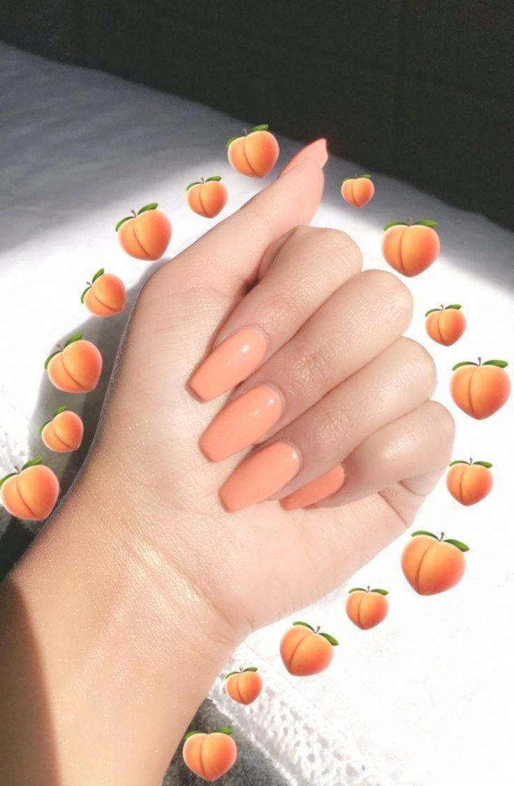 Nail Shapes Matte Manicures Bestnailshapes Ombre Acrylic Nails Peach Acrylic Nails Best Acrylic Nails