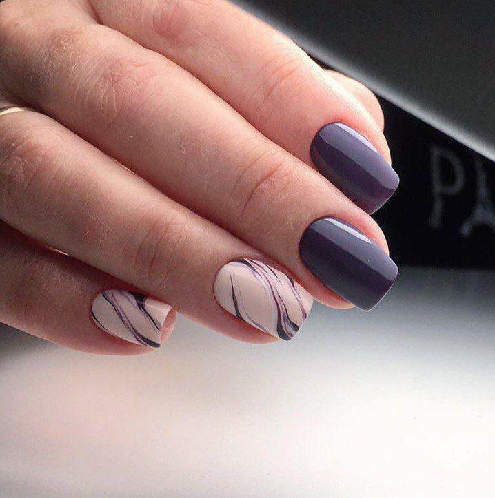 Двухцветные ногти, Двухцветный маникюр шеллак, Деловой маникюр, Ежедневный…